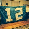 Handmade 12th Man flag flies