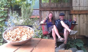 Graham's owner Katie O'Connell and chef Spencer Santenello with a load of chanterelles. COURTESY PHOTO