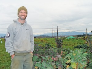 Christoper Brown, Director of Growing Veterans, at the three-acre farm near Lynden. PHOTO BY BECCA SCHWARZ COLE