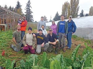 Some of the crew and  volunteers at Growing  Veterans farm in Lynden. PHOTO SET BY CHRIS ROWELL