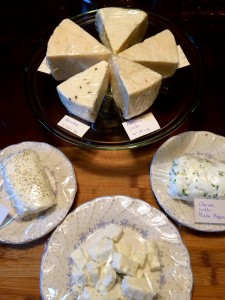 Homemade cheeses/. COURTESY PHOTO