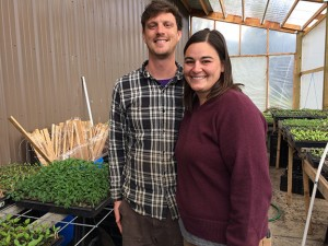 Anna Morris and Jared Danilson of Slanted Sun Farm grow 40 different types of vegetables on land they lease from Cloud Mountain Farm Center's Incubator Farm Program. PHOTO BY MARY VERMILLLION